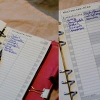 Filofax Einlagen für Wochenspeiseplan & Einkaufsliste zum Download