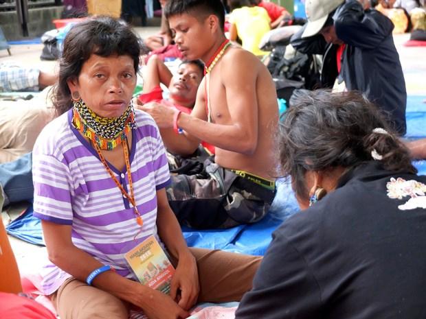 Aida Anggol, a Manobo from Talaingod, Davao del Norte, wearing a ginibang.