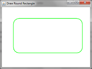 Draw Round Rectangle Demo
