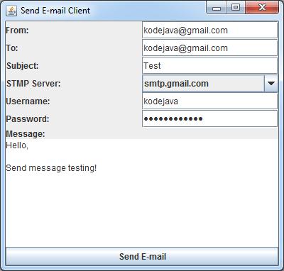 Mail   Kode Java