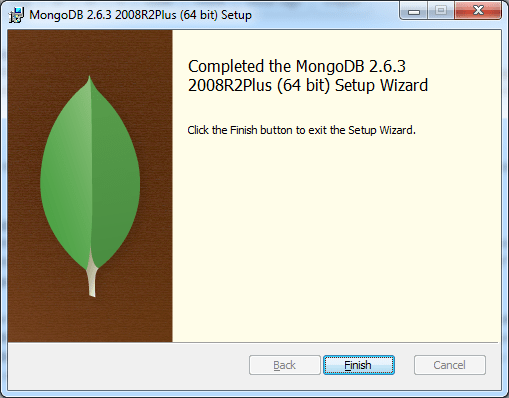 Completed MongoDB Installation