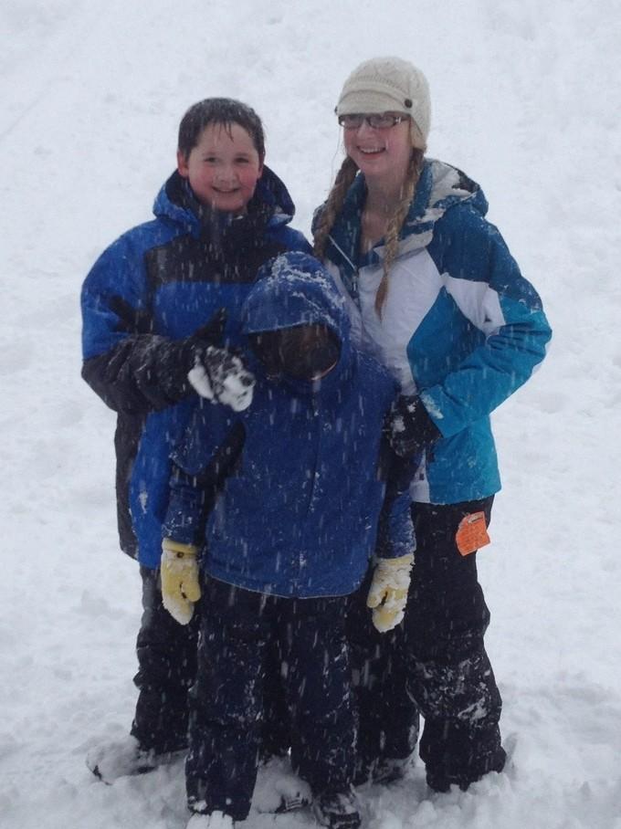 WE GOT SNOW!!!!!