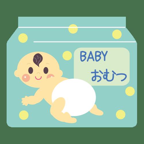 赤ちゃん 紙おむつ イラスト かわいい 無料 フリー