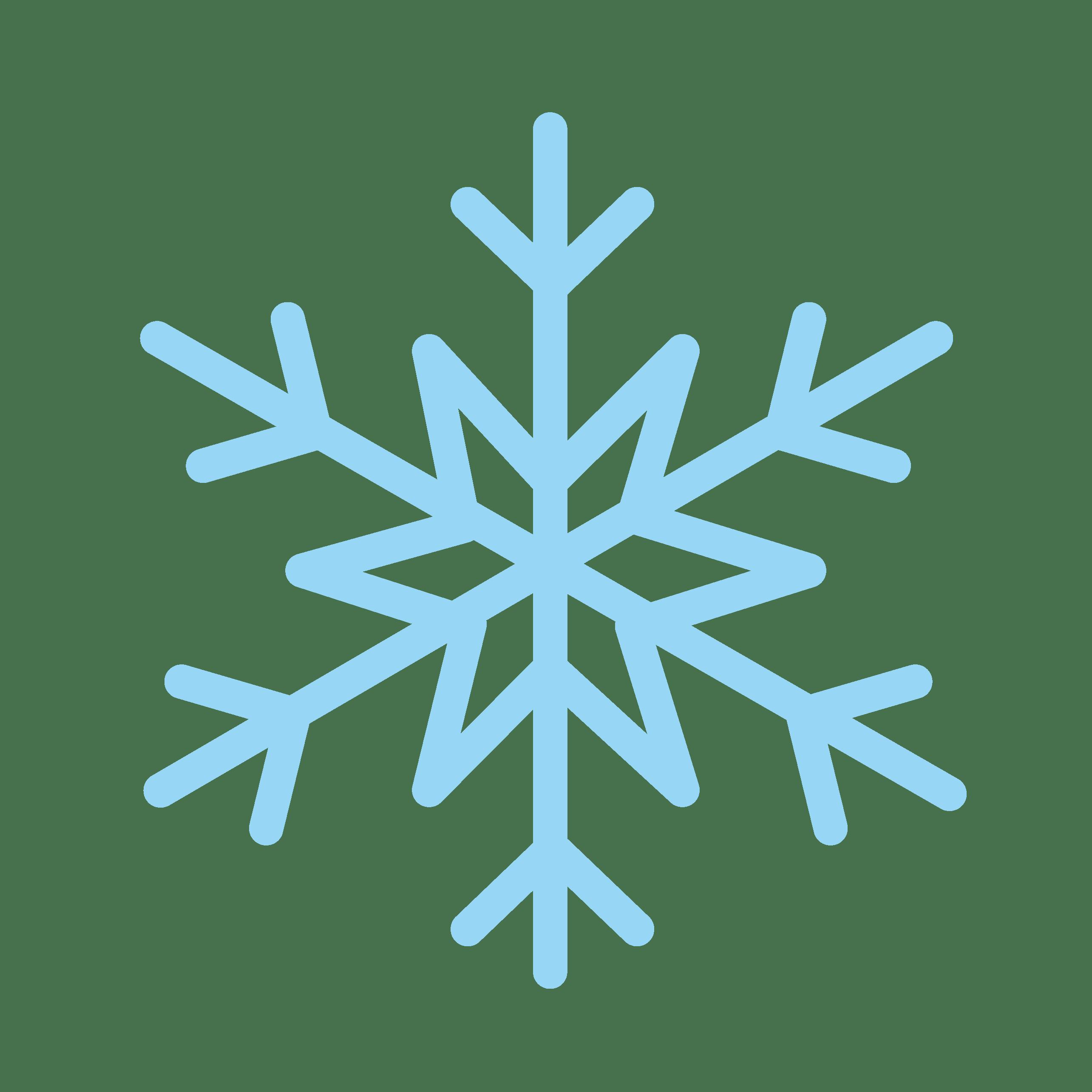 雪の結晶のかわいいイラスト画像素材フリー無料