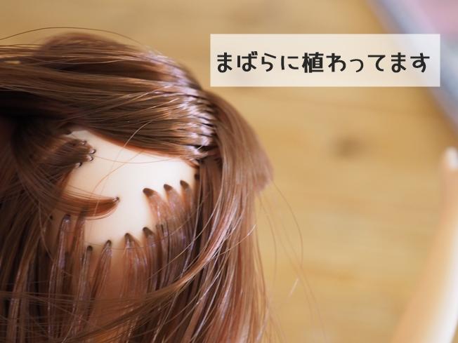 ラブリーリンちゃん 髪はまばらに植わってます