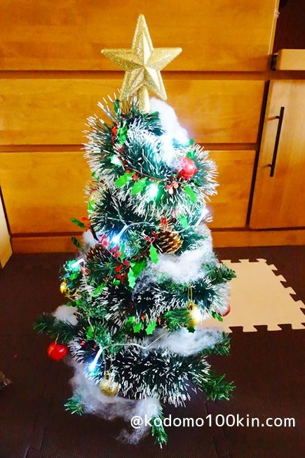 100円均一でクリスマスツリーを作る 全体像