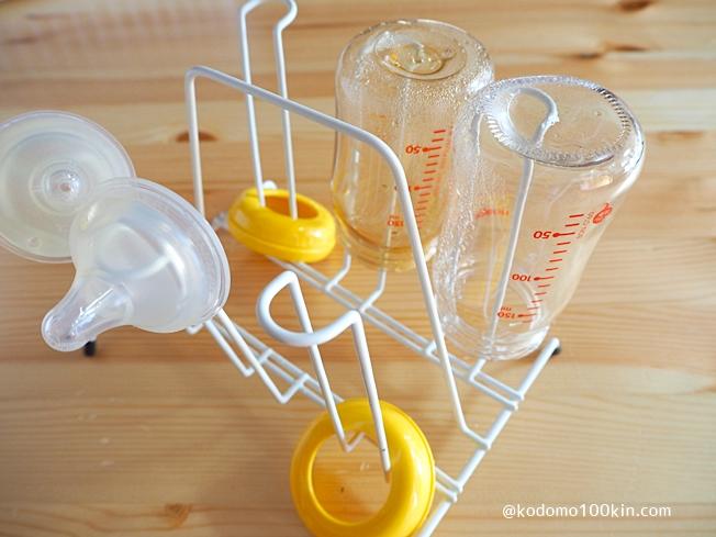 100均の材料で哺乳瓶スタンド コップスタンドは哺乳瓶の乾燥にもピッタリ