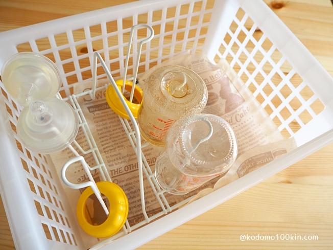 100均の材料で哺乳瓶ラック 哺乳瓶ストッカーのベースが完成