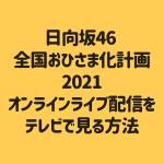 日向坂46 全国おひさま化計画 2021 オンラインライブ配信を テレビで見る方法