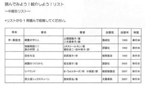 中高生リスト