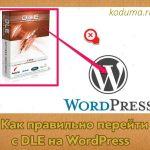 Как правильно перейти с DLE на WordPress