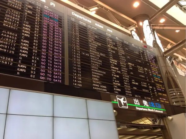 冬休み、親子三人成田空港へ。スクートのチェックインと機内持ち込み荷物