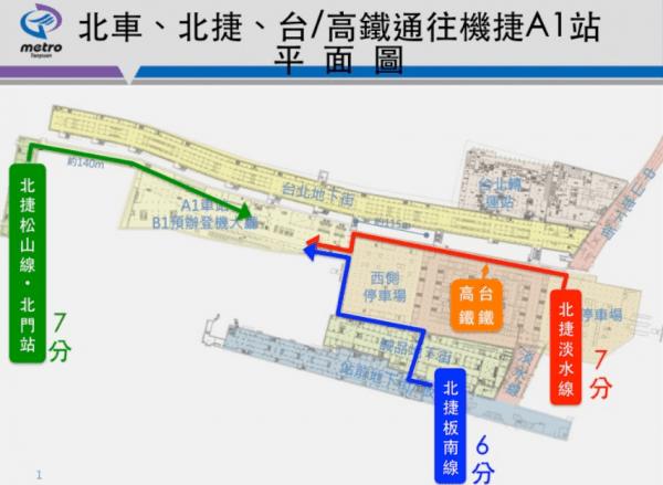 桃園空港MRT空港線台北駅