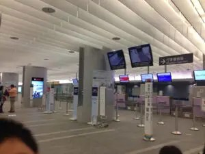 桃園MRT台北駅インタウンチェックイン