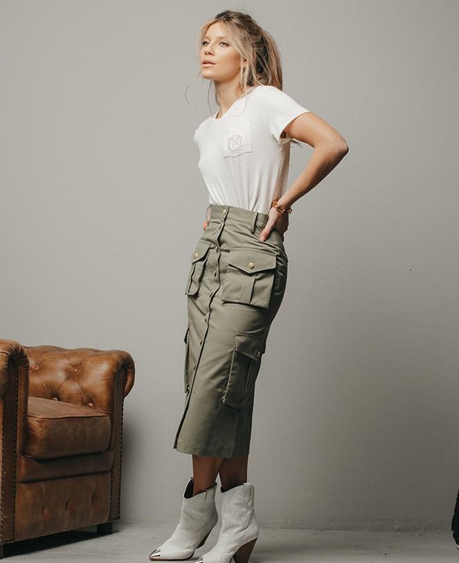 green-military-skirt
