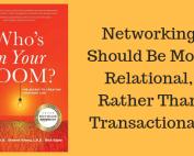 Relationship building, sales skills,