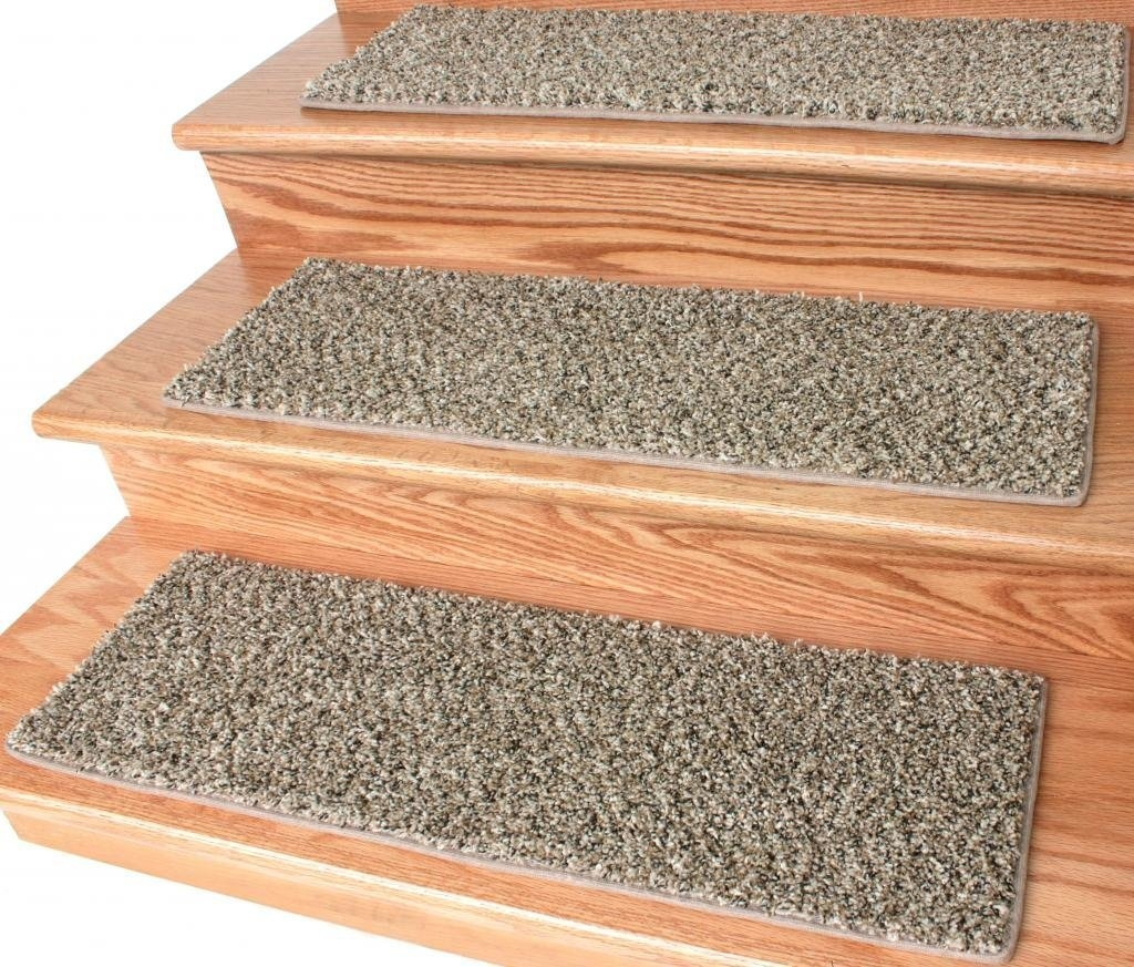 Bronzite Frieze Stair Treads | Decorative Non Slip Stair Treads | Stair Railing | Washable | Rugs | Dirt Proof | Rubber Backing