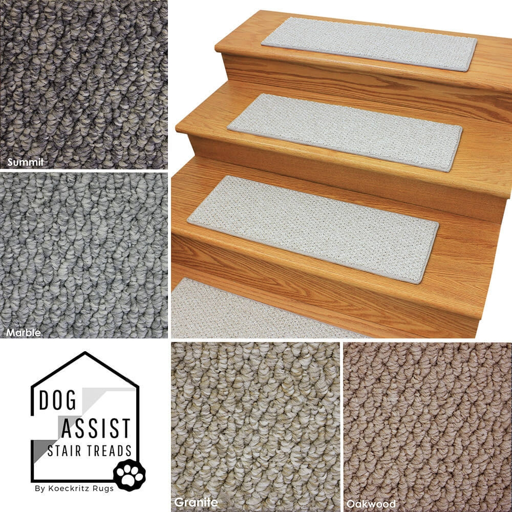 Artful 40 Oz Level Cut Loop Indoor Area Rug Carpet | Padded Carpet Stair Treads | True Bullnose Carpet | Carpet Runners | Staircase Makeover | Dog Cat Pet | Stair Risers