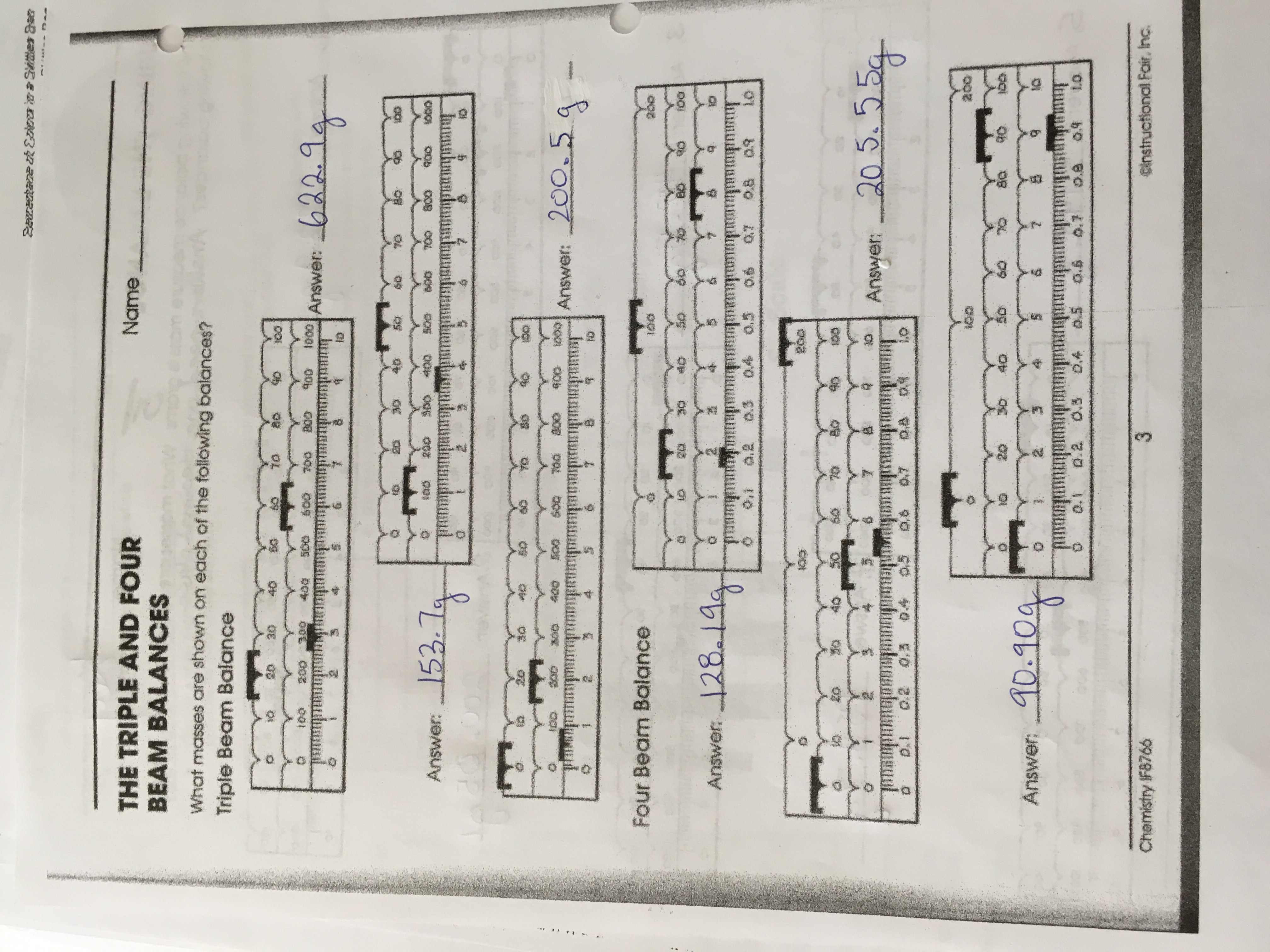 Science 8 Answer Keys
