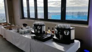 Nespresso Kaffee Catering - Bild Frankfurt Event Catering im Rohbau Hochhaus