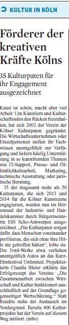 Kölner Stadt Anzeiger_Ehrung 2014