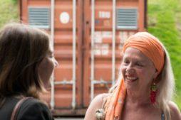 Edith Strunk trifft Angie Hiesl und ihren Manager Burkhart Siedhoff