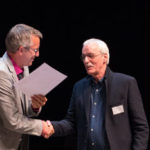 BM Andreas Wolter mit Volker Hilgert (Köln Art Design)