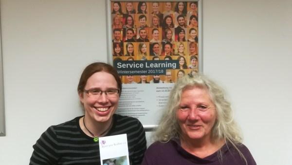 Pia Kollender (l.) und Monika Hilz freuen sich über die neue Kulturpatenschaft