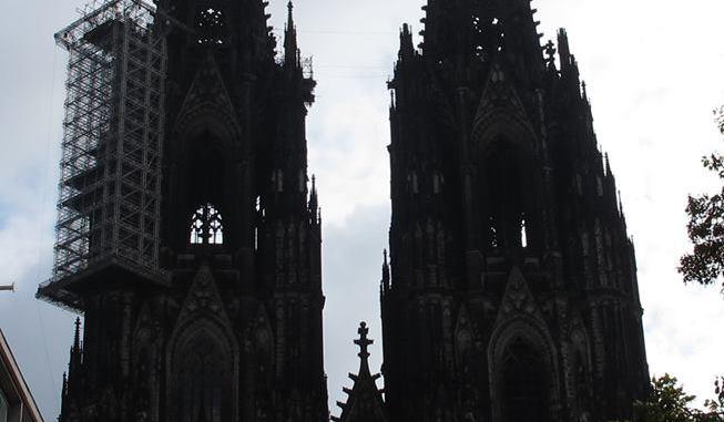Das Gerüst am Kölner Dom