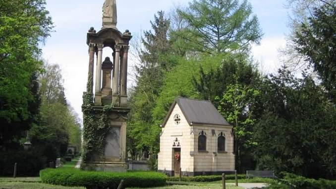 Die kleine Kapelle auf Melaten