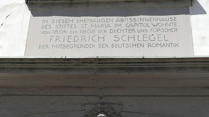 Gedenktafel für Friedrich Schlegel