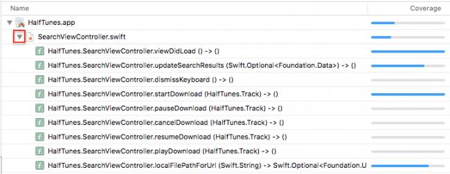 iOS Unit Testing: Code Coverage Report