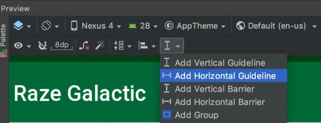 add horizontal guideline
