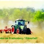 Heu wenden am Drachenberg Oldenstadt Leinwand Digitaldruck 145,00€