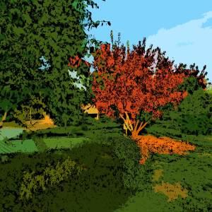 Herbstlicher Baum auf Leinwand 45 x 30 cm, Atelier 10, Uelzen