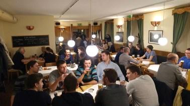 Viele Gäste bei der Schlachtpartie 2016 im Unibräu vom Verein der Vorarlberger in Wien