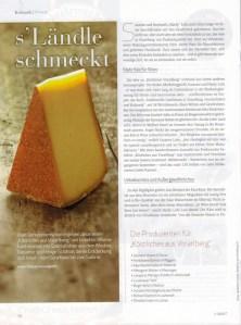 Artikel über KÖSTLICHES AUS VORARLBERG im Magazin Hotel & Touristik vom Manstein Verlag, Ausgabe 1-2/2017