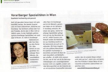 Porträt von Susanne Lohs in der Ausgabe 01/17 des WKO Magazins UNTERNEHMERIN