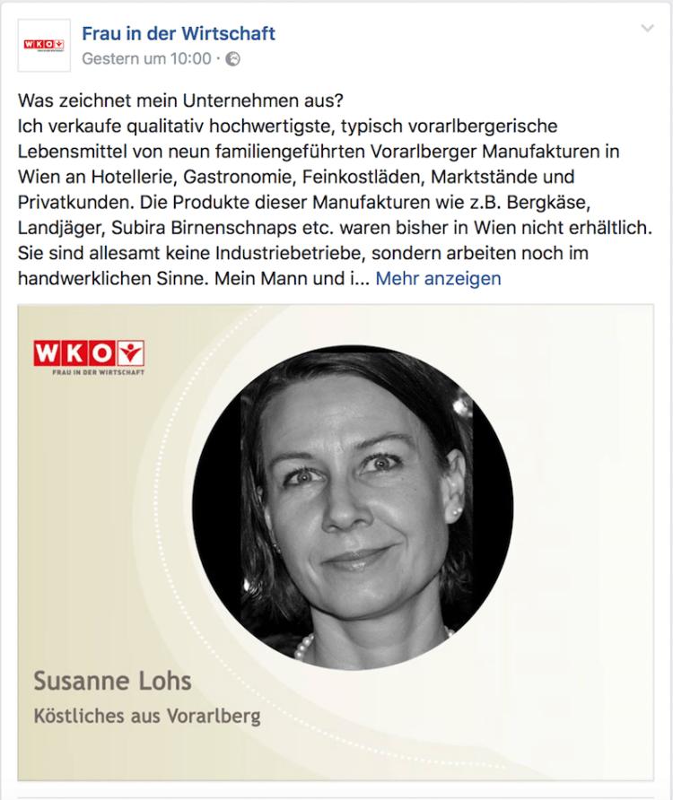 Susanne bei FRAU IN DER WIRTSCHAFT