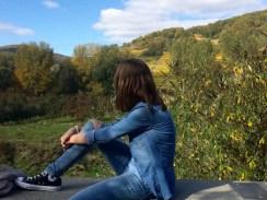 Saskia Lohs genießt die Herbststimmung in der Wachau