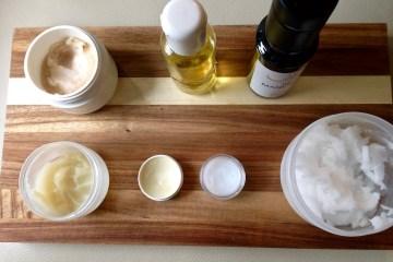 Mehrere selbstgemachte Cremen aus BIO Ölen in Rohkostqualität von der Ölmühle Sailer in Lochau und ätherischen Ölen
