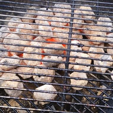 Grillbriketts nach 4 Stunden Grillen