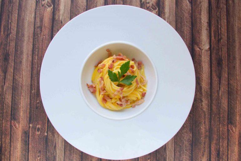 Spaghetti mit Kürbissauce