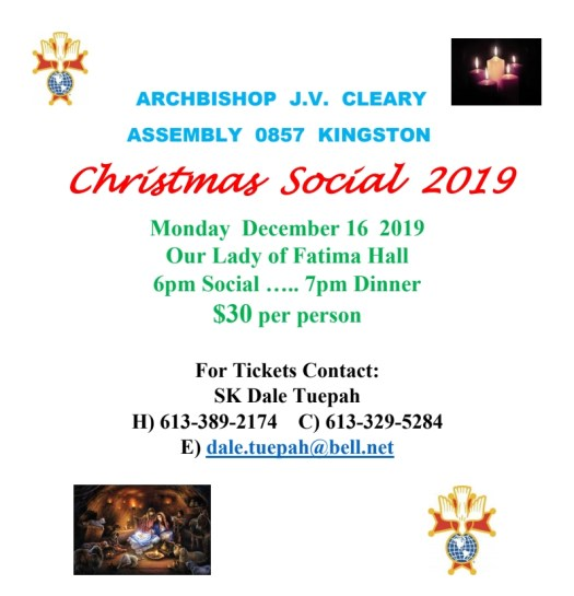 Assembly 857 Christmas Social 2019