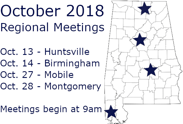 Agenda for October 2018 Regional Meetings