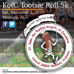 """Tootsie Roll"" 5K Run/Walk in support of Madison City Schools Intellectual Disabilities students"