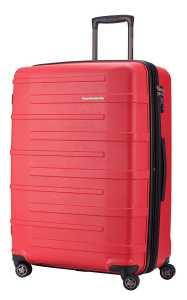 Ein roter Ostkreuz-Koffer von Hauptstadtkoffer.