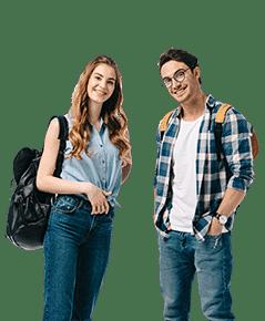 Ein Schüler und eine Schülerin