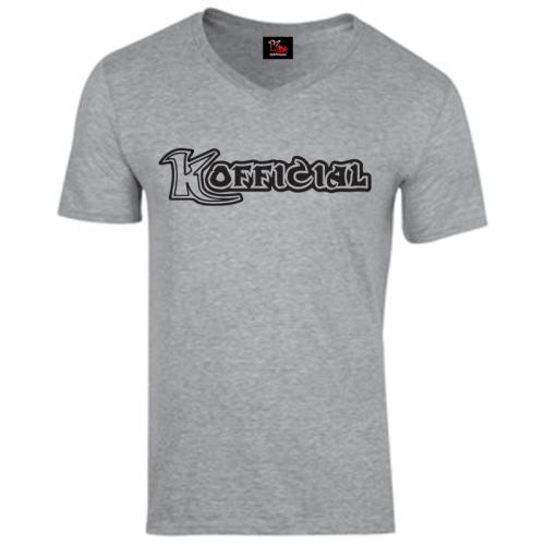 KOfficial V Neck T-Shirt Classis black logo