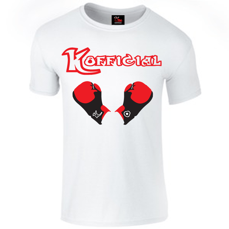 KOfficial White Boxing Gloves T-Shirt